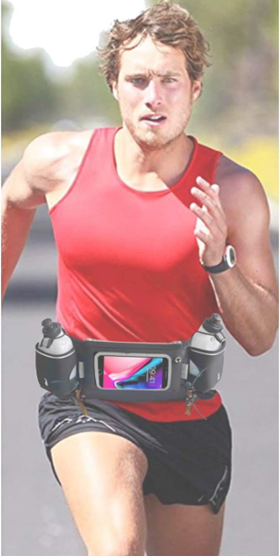 Emplacement pour Smartphones et /écouteurs ATHLETIX TM Ceinture de Course Footing Gourde Running la randonn/ée Ceinture hydratation Running Id/éal pour Le Marathon
