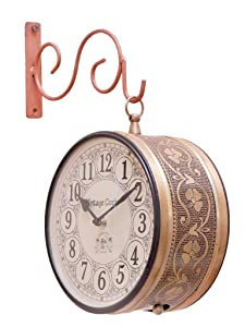 Vintage Clock Handicraft Double-Side Iron Clock