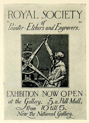 1924-print-royal-society-exhibition-etchers-engravers-pall-mall-malcolm-osbourne-original-halftone-p