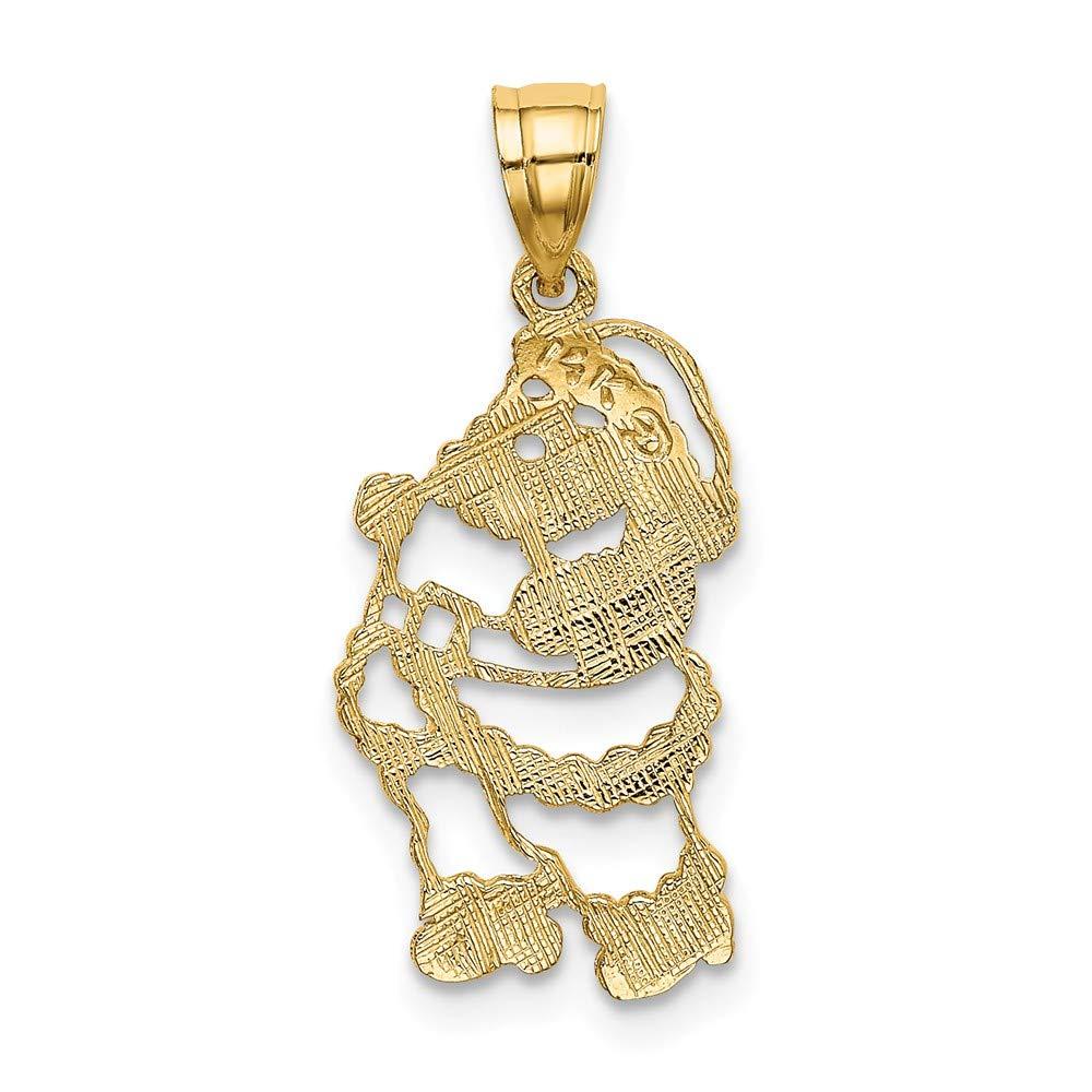 FB Jewels 14K Yellow Gold Polished Santa Pendant