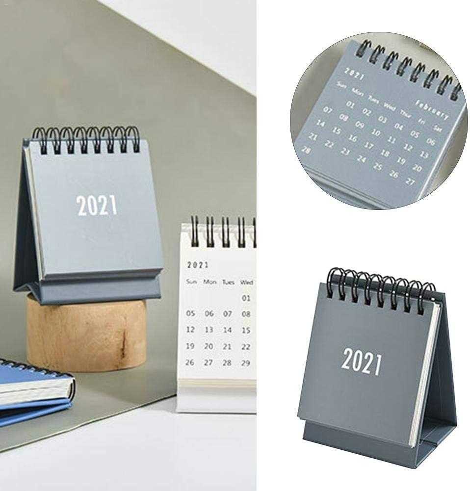 Desktop Standing Flip Monthly Calender 2020-2021 Desk Calendar Mini Portable 2021 Year Calender for Organizing and Planning