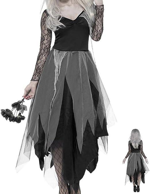 Comficent Horror Zombie Niña Disfraz de Halloween Vestido de Mujer ...