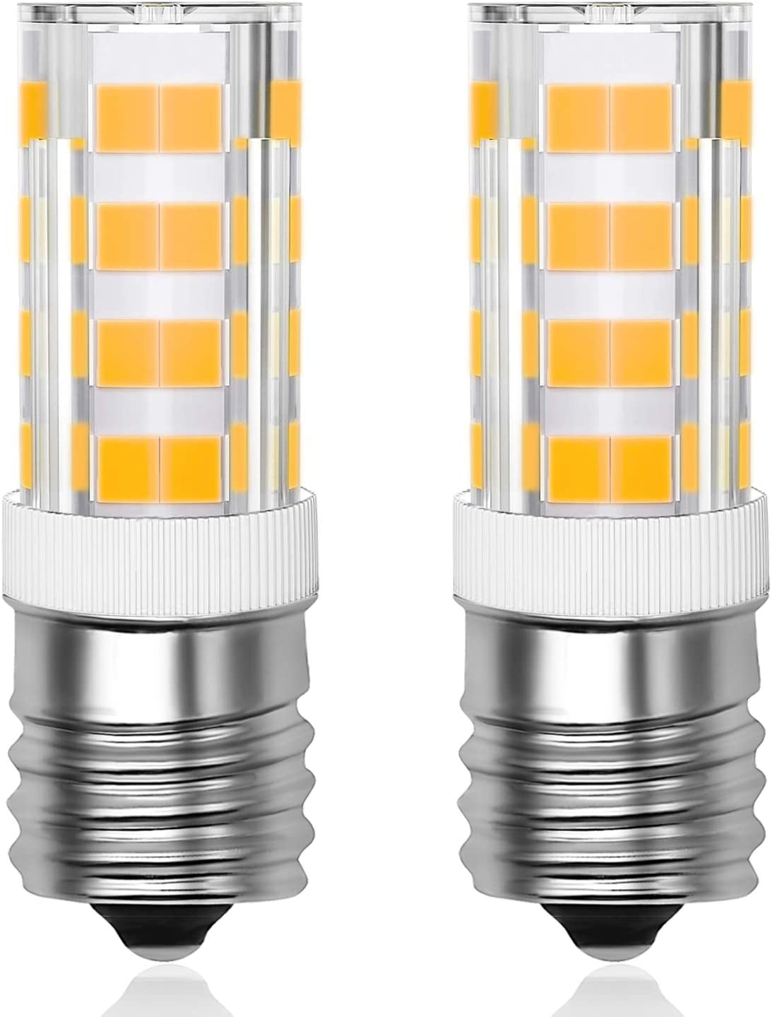 Primeswift E17 LED Bulb Microwave Oven Light Stove Bulb Light 4W Warm White Non-dimmable 3000K AC110-130V,2 Pack