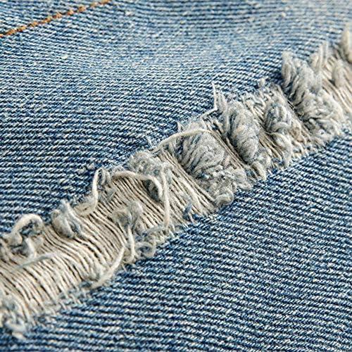 Zolimx Denim,Giacca in Jeans Uomo E Donna Donne Uomini Autunno Inverno Denim Sconvolto Giacca Tasca Pulsante Flick Denim Jeans Cappotto