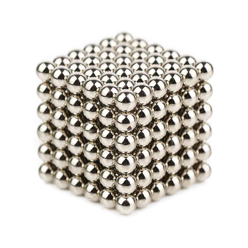ZEJUN101 Im/án Cube Imanes de Neodimio Inteligencia Desarrollar y Stress Relief 216 Pcs Plata