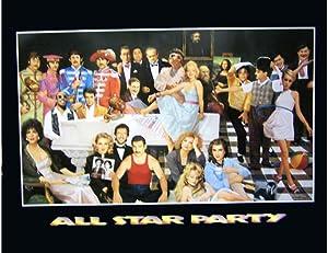 Wizard All Star Party Marilyn Monroe Beatles Elvis Presley Michael Jackson Rare Hollywood Legends Cool Wall Decor Art Print Poster 20x16