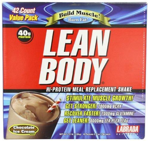 Labrada Carb Watcher Lean Body Chocolate Powder Sachets Pack of 42 by Labrada