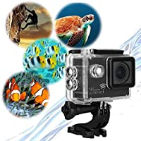 Action Camera, MiSafes Waterproof 4K 2160P Diving Camcorder 170° Wide Angle HD WIFI Car DVR Cam 30m Digital Underwater Sports & Action Video Cameras with Shockproof Case + Accessories Kit ( Black)