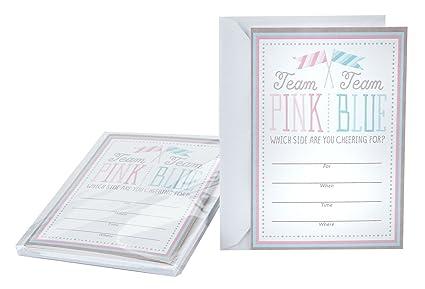 amazon com hallmark baby shower or gender reveal invitations team