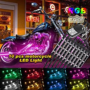 Golf Cart Car Motorcycle Underbody Glow LED Lighting Kit Multi-Color Accent Neon Lights Strips