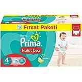 Prima Pants Külot Bebek Bezi Maxi 4 Beden Fırsat Paketi 78 Adet 8-14 Kg