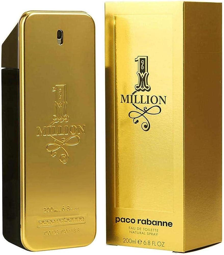 PACO RABANNE 1 Million Men Eau DE Parfum 200ML VAPORIZADOR Unisex Adulto, Negro, 200 ml