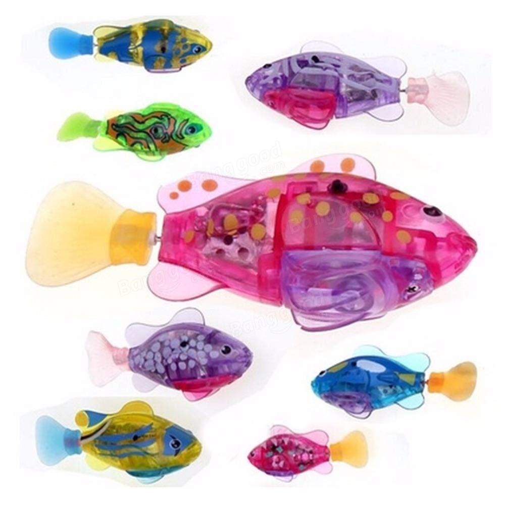 Fish & Aquatic Pets Aquarium Accessories - Pets Robofish Activated Battery Powered Robotic Pet Toys for Fishing Tank Decorating Fish - Purple - 1 x Pets Robofish (Random Color)