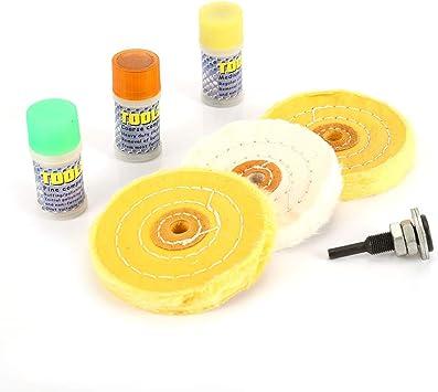 Juego de 7 ruedas pulidoras de algodón para pulir joyeros, barras ...