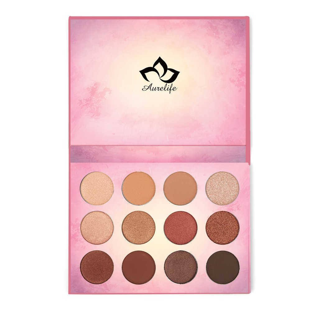 Kaidifangte 12 Color Matte Shimmery Pearl Liberties Eye Shadow Palette