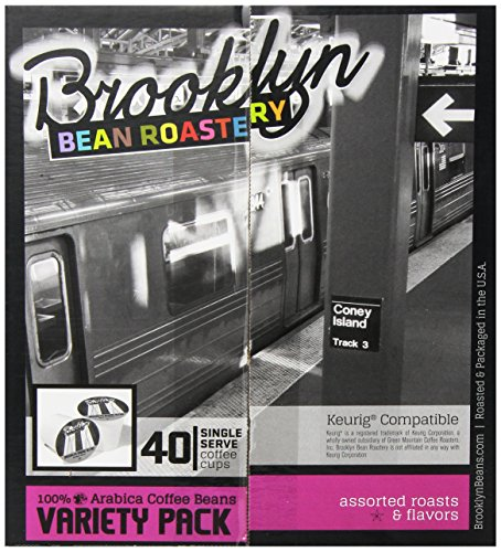 Brooklyn Beans Assorted Variety Pack Single-Cup Coffee for Keurig K-Cup Brewers, 40 Count