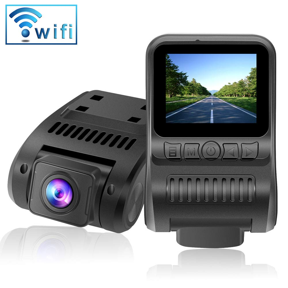 Upgraded Dash Cam Built in WiFi 1080P FHD Mini Car Dashboard Camera Recorder with 2.0'' LCD Screen 170°Wide Angle, Super Night Vision, G-Sensor, WDR, Parking Monitor, Loop Recording, Motion Detection by Innosinpo