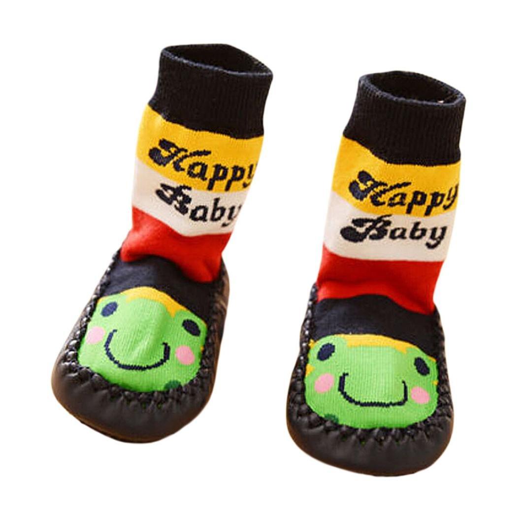 Tonsee® Cartoon Toddler Enfants Bébé Anti-dérapant Sock Chaussures Bottes Pantoufle Chaussettes (11cm,...