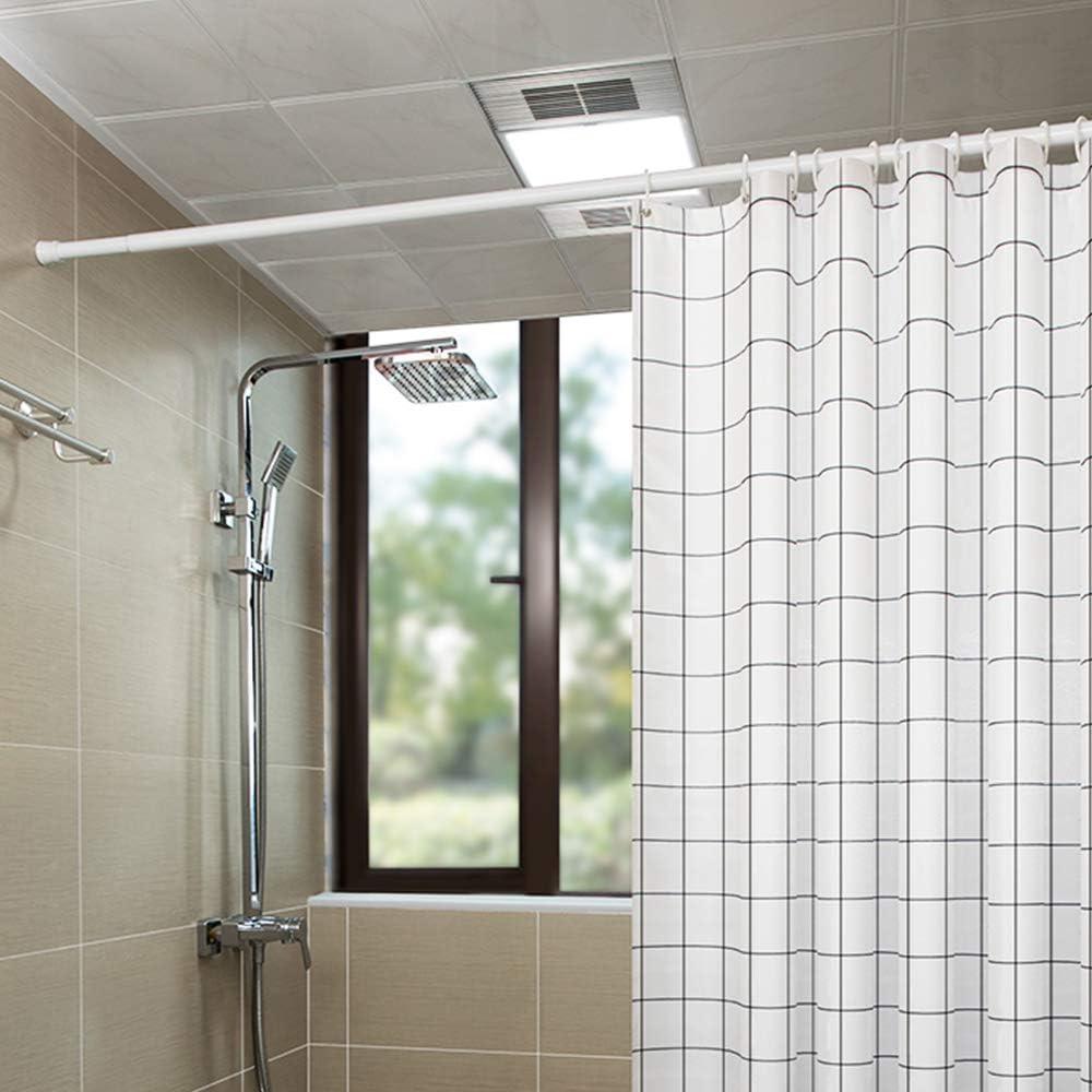 HENGMEI Tringle /à Rideau t/élescopique en Acier inoxydable Extensible Barre de Rideau sans Per/çage pour projets de bricolage de cuisine armoire 70-120cm salle de bain Argent