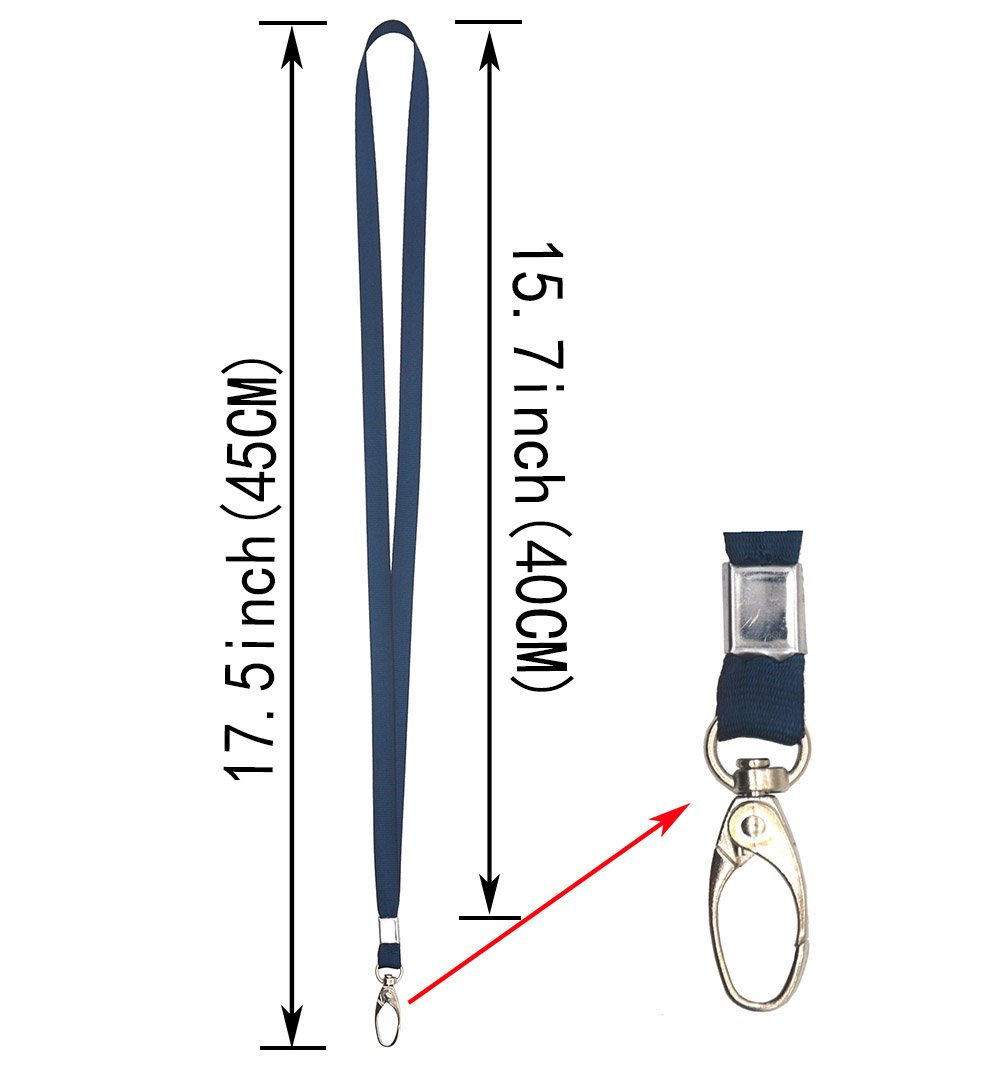 Lanyard 45CM nailon cordones ideal para ID insignias//clave cadenas