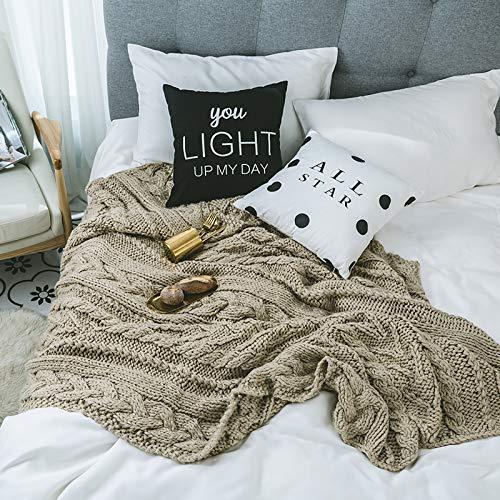 Mabmeiyang 5キロ毛布毛布カーペットオフィスウール毛布ニット毛布ベッド毛布昼寝毛布毛布キルト毛布タオル (Color : Grey) B07S3FGHJF Grey