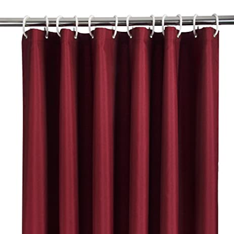 Elegant Polyester Shower Curtain Thick Fabric Water Repellent With Rust  Proof Grommets, Ufriday Durable