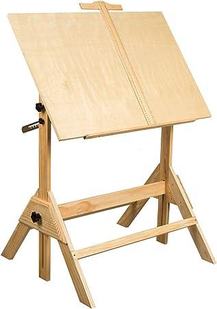 MEEDEN mesa de dibujo, mesa de dibujo, mesa de manualidades con ...
