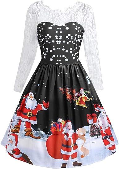 Mesdames Manches Longues Noël Pull Unisexe Nouveauté Rétro Vintage Chandails