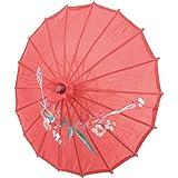 Sourcingmap a13071200ux105821diametro fiore stampa panno bambù cinese orientale ombrello parasole, colore: rosso