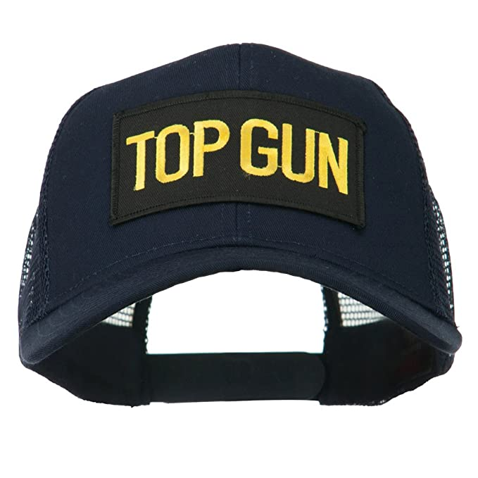 115ecc5325a US Top Gun Military Patched Mesh Back Cap - Navy OSFM at Amazon ...
