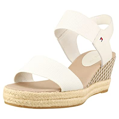 1b32cab5bed Tommy Hilfiger Iconic Elba Sandal Pop Color Womens Wedges Off White - 38 EU
