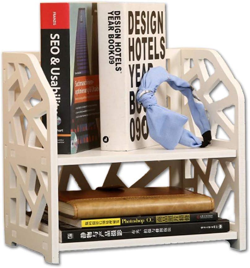 Small Bookshelf for Desktop Storage, Mini Narrow Desk White Ladder Organizers for Women, Kids, Men for Office Decor Accessories