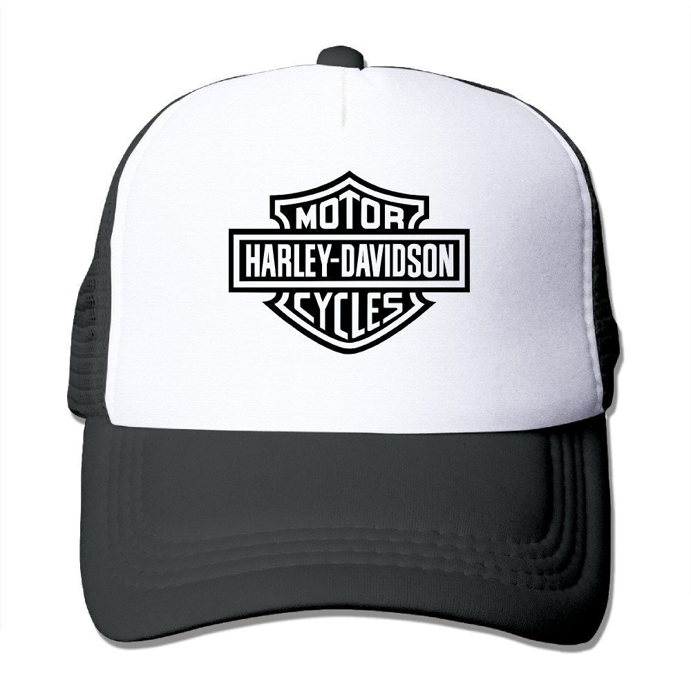 Caps Black In 5 Colors Yhsuk Harley Logo Funny Trucker Hat With Mesh One Size