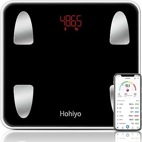 体重計 体組成計 体脂肪計 高度なバージョン 体重/体脂肪率/皮下脂肪/内臓脂肪/筋肉量/骨量/体水分率/基礎代謝量/BMIなど測定可能 計量範囲:5kg-180kg 精度0.01kg Bluetooth対応 iOS/Androidアプリで健康管理