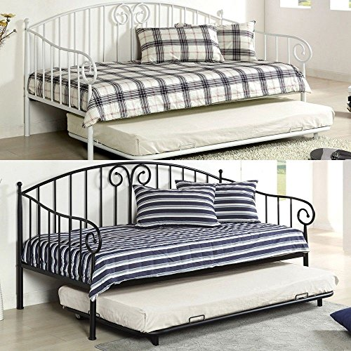 product reviews buy 1perfectchoice hamden transitional metal twin day bed daybed w twin size. Black Bedroom Furniture Sets. Home Design Ideas