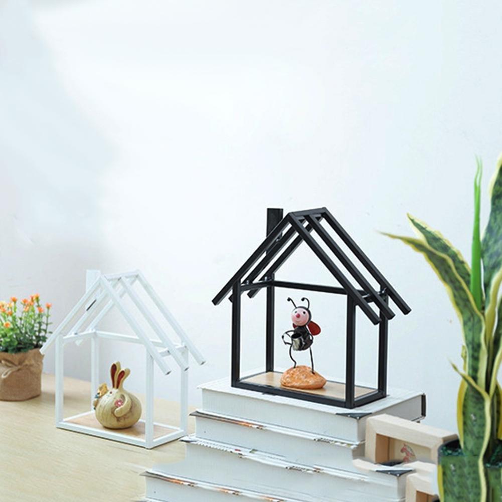 iBaste Moda Scaffale in Ferro Forma della Casa Mensola a Muro Decorazione della Parete Scaffale per la Camera dei Bambini//Soggiorno