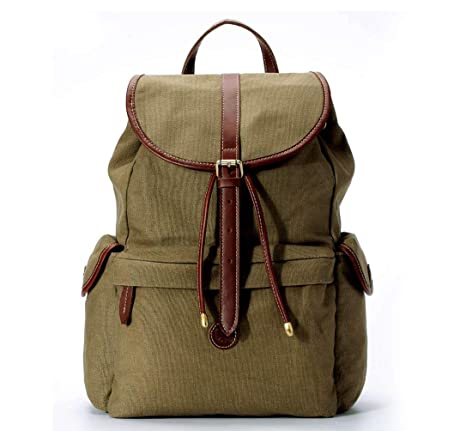 926a8a8ed0 La Poet Women S Water Resistant Vintage Waxed Canvas Purse Backpack  Rucksack Olive Co Uk Luge