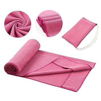 Toalla de Yoga 100% Microfibra Toalla de Yoga Antideslizante ...