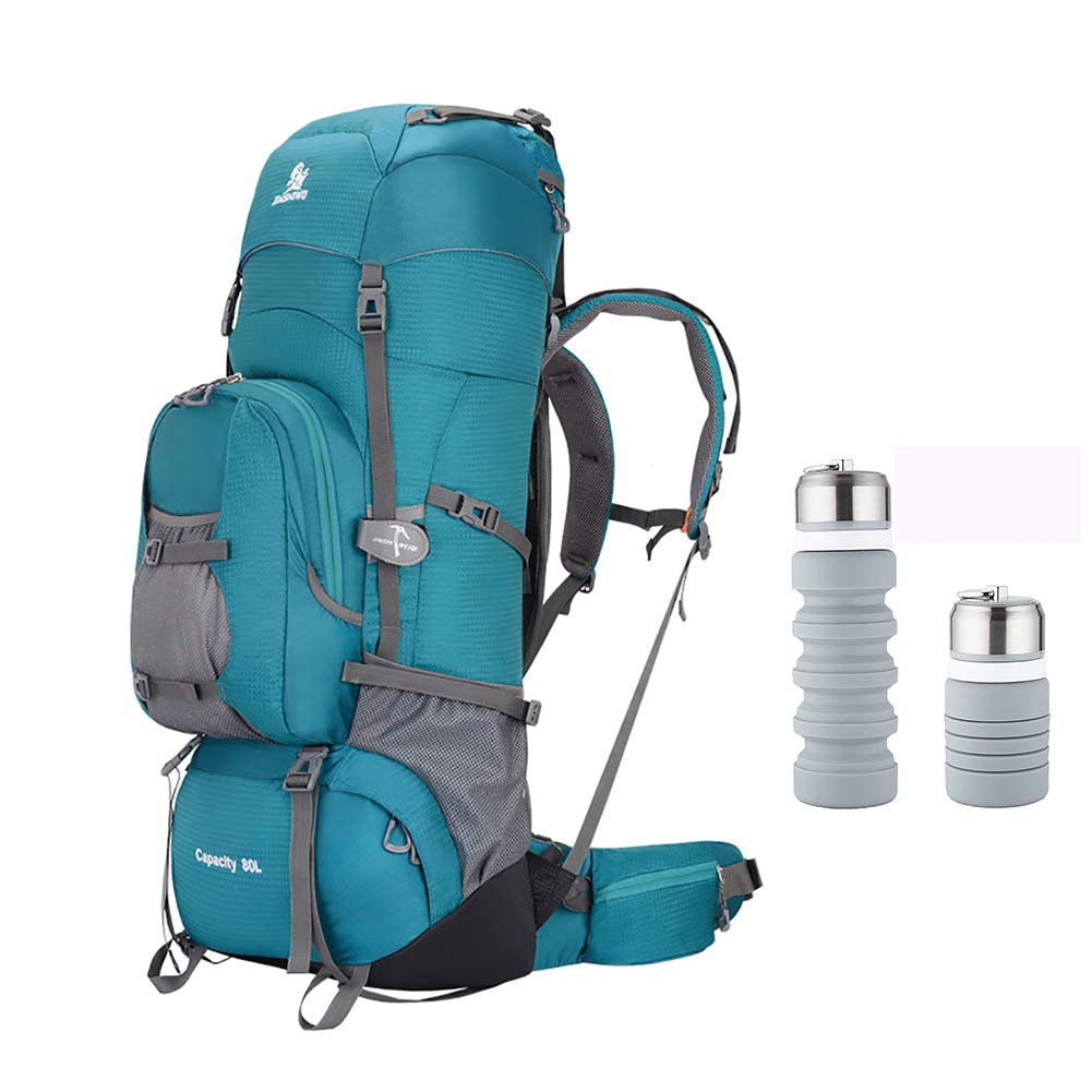 MZTYX Es Waterproof Outdoor Mountaineering Bag Buy One Hiking Bag and Get One Folding Cup Large-Capacity Sports Bag 80L Ultra-Light Camping Bag