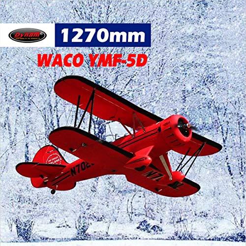 (DYNAM RC Airplane Waco Red 1220mm Wingspan - BNP)