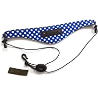 Beaumont Clarinete/Oboe/Saxo Alto Correa Acolchada de Diseño para el Cuello – Blue Polka Dot