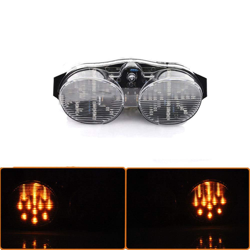CHUDAN R6 Fanale Posteriore a LED modificato a LED Spia della Luce con Funzione di svolta per Yamaha YZF R6 2000 2001-2002