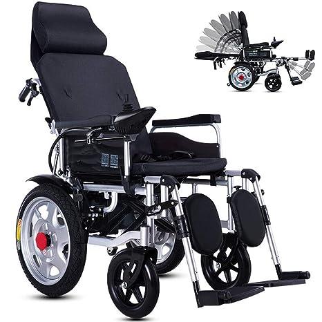 ACZZ Silla de ruedas plegable y compacta con ayuda de ...