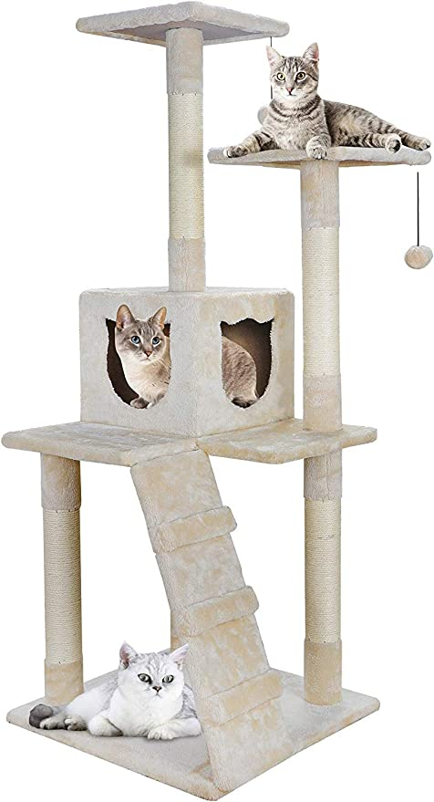 "41/""Multi-Level Wall Mounted Cat Tree Condo Activity Centre Tower Stand Furniture"