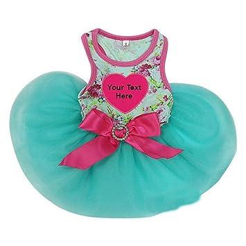 Azul Rosa Rosa Personalizado Corazón mascotas Tutu vestido de fiesta