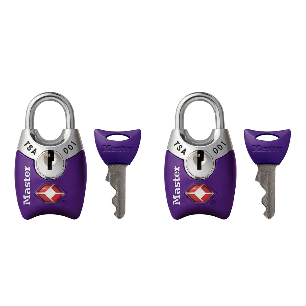 Master Lock Padlock, Keyed TSA-Accepted Luggage Lock, 1 in. Wide, Assorted Colors,  4689T (Pack of 2) by Master Lock (Image #5)