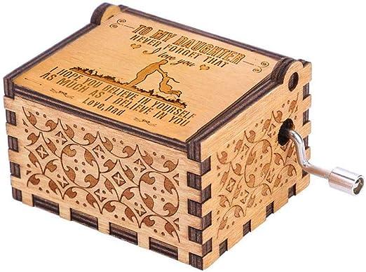 Caja de música con manivela grabada, regalo personalizable para ...
