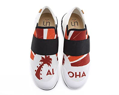 Men's Aloha Painted Comfort Lycra Casual Shoes Red