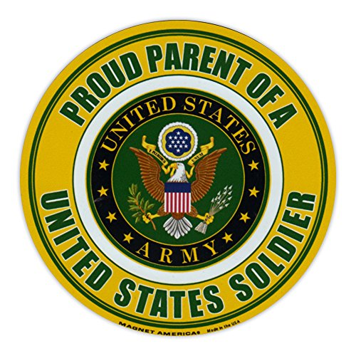 Round Magnet - Proud Parent of a Soldier - United States Army, Military - 5