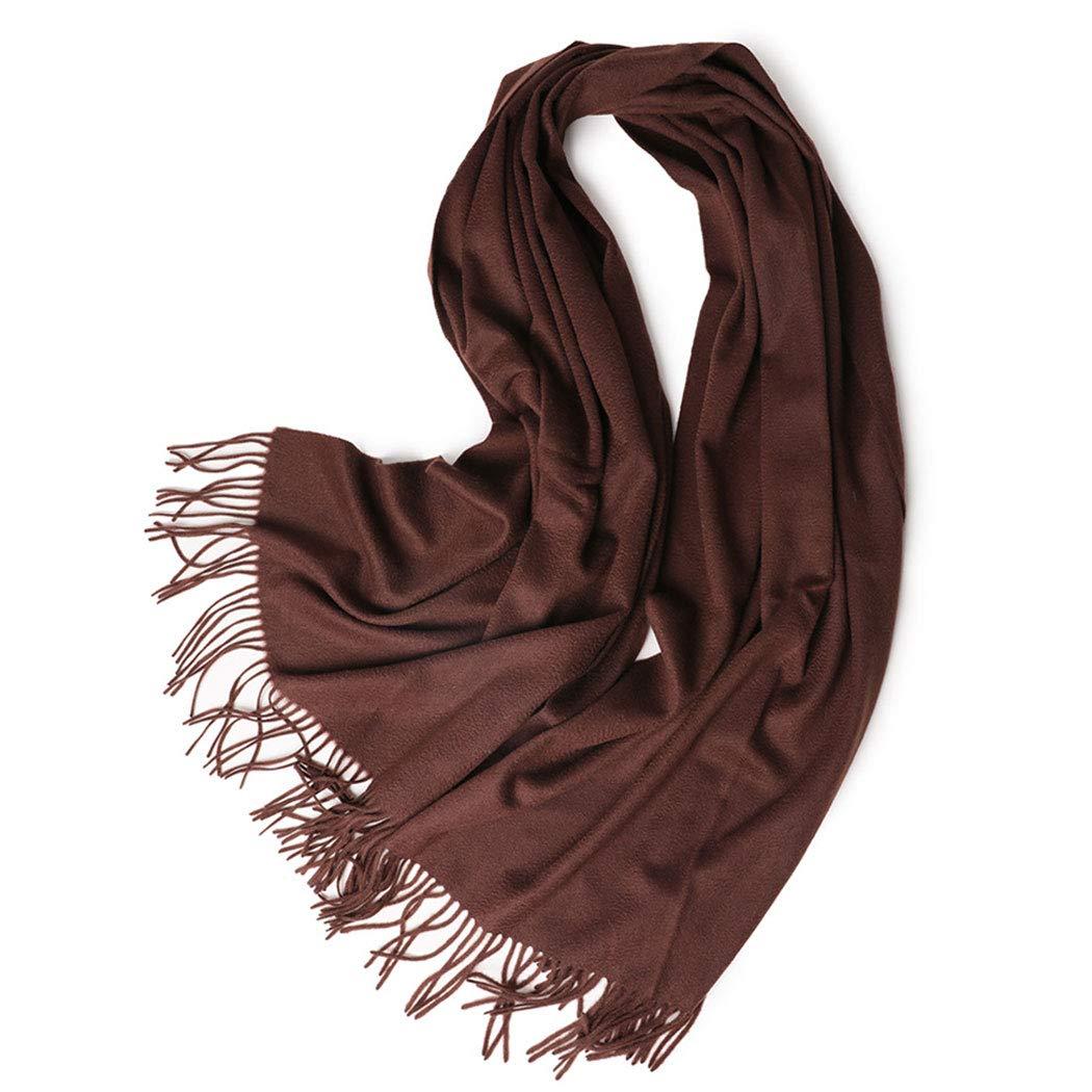 長い厚いカシミヤスカーフ波状カシミヤスカーフ女性ショールフリンジショール70 * 200 cmブラウンパープル (色 : Brown, サイズ さいず : 70*200cm) 70*200cm Brown B07MQTK4K7